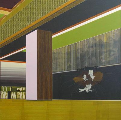 2001 - AUF DER SUCHE NACH DER OBRIGKEIT / acrylic on canvas / 150 x 150 cm