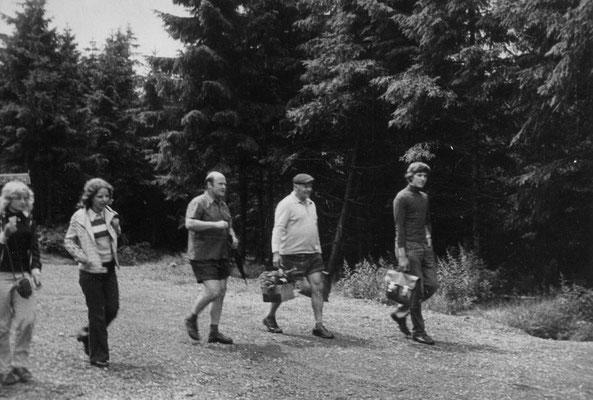 Astrid, Frl. Böhnlein, Otto und Helmut Krug