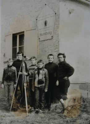 An der Numburg bei Kelbra:v.r. Wolfgang Malek, Hannes Wunderlich, Daniel Rimbach, Dirk Reum