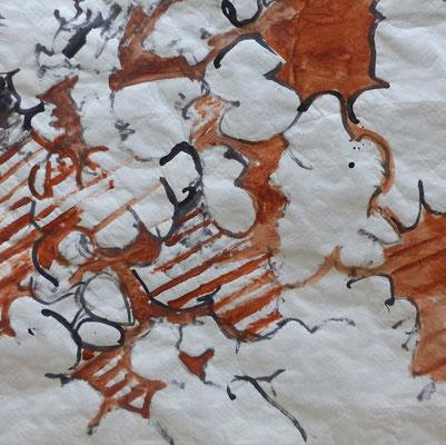 JC Farey Relevé d'ombres portées, mûrier platane et yucca 9-08-2006 (détail)