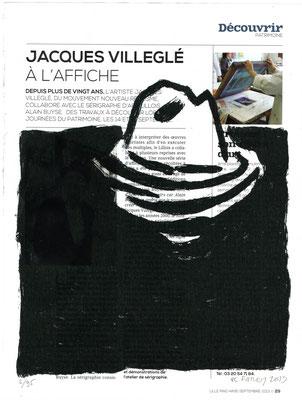 JC FAREY, Portait de l'île Eglé, 2013. Sérigraphie sur journal, 35 exemplaires, 27 x 20,4 cm. Ateliers d'Éditions Populaires/Alain Buyse.