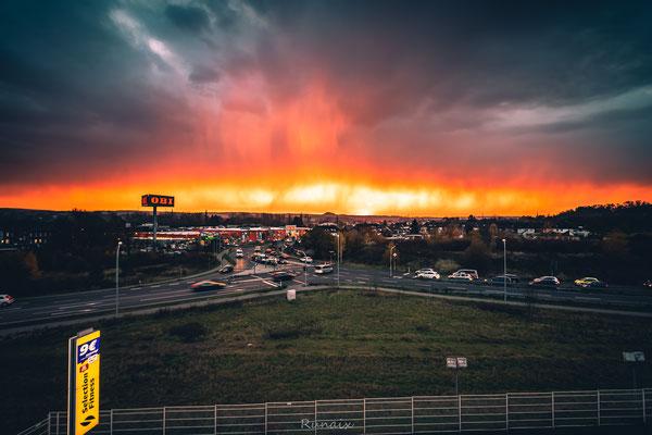 Sonnenuntergang am 21.11.19