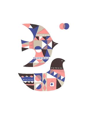 BirdB_1 (シルクスクリーン印刷)