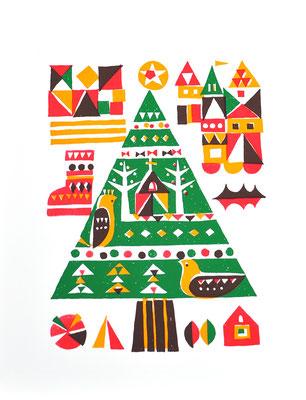 tree(シルクスクリーン印刷)