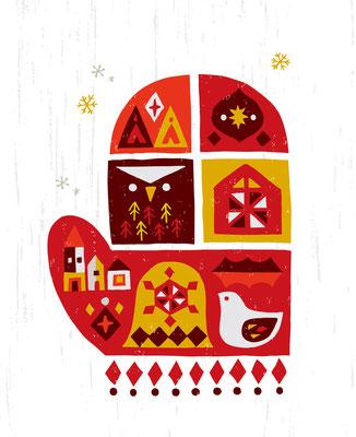 Christmas mitton