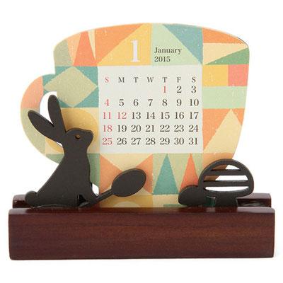 Z&K ウッドシルエットカレンダー