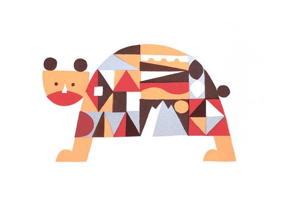 Bear(シルクスクリーン印刷)