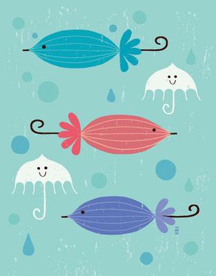 Umbrella of fish