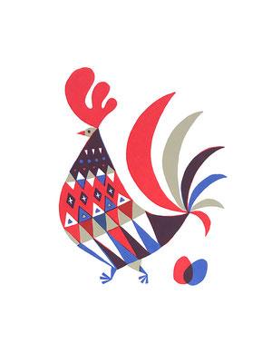 Cock(シルクスクリーン印刷)