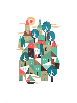 Town (シルクスクリーン印刷)