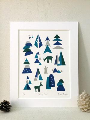 winter forest(シルクスクリーン印刷)