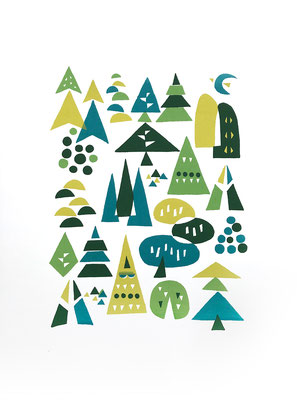 Summer forest(シルクスクリーン印刷)
