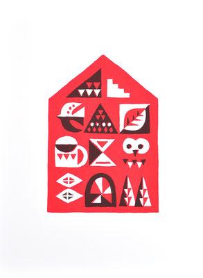 House (シルクスクリーン印刷)