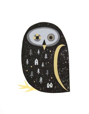 owl(シルクスクリーン印刷)