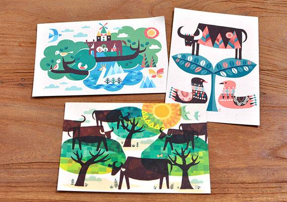 牛展オリジナルポストカード