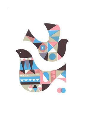 BirdA_2 (シルクスクリーン印刷)