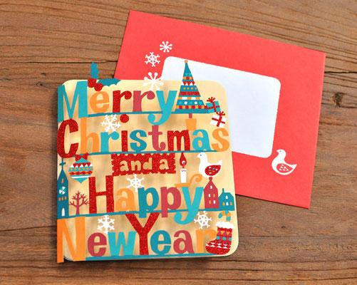 日本ホールマーク 型抜きクリスマスカード