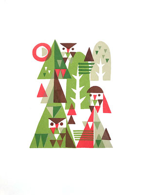 Forest (シルクスクリーン印刷)
