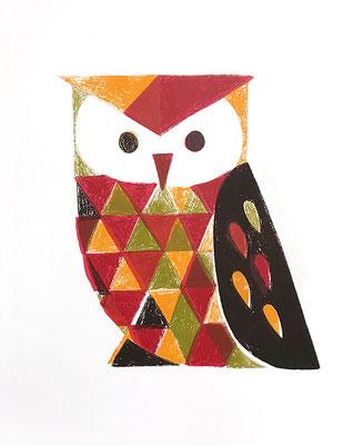 Owl (シルクスクリーン印刷)