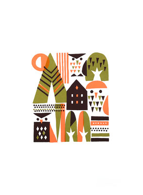 Autumn forest(シルクスクリーン印刷)