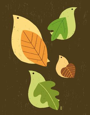 Birds of leaf