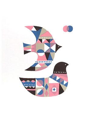 BirdB_2 (シルクスクリーン印刷)