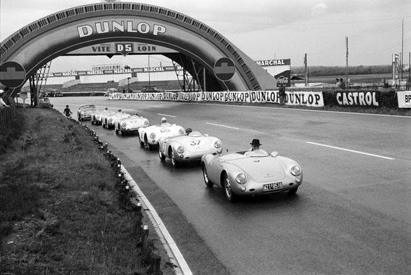 550 Spyder in Le Mans 1955