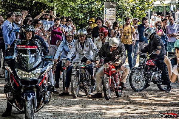 Motorräder beim Concorso d'Eleganza 2017