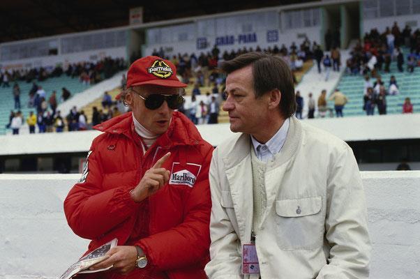 Niki Lauda und Hans Mezger, ca. 1984
