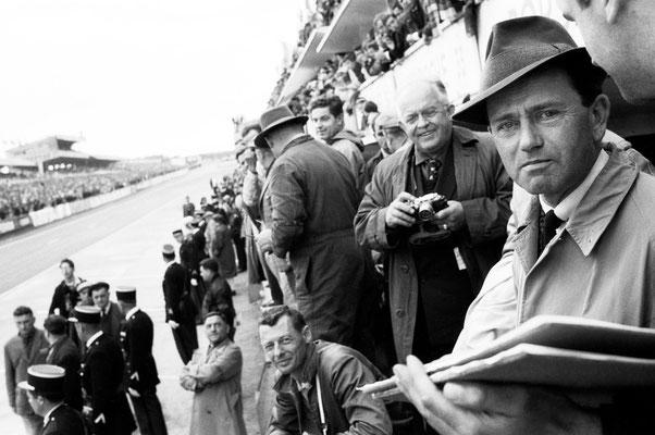 Le Mans 1961; rechts im Bild: Ferry Porsche