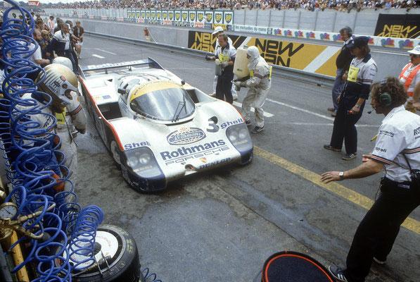 Le Mans 1983: Porsche 956 LH (Nr. 3) mit Vern Schuppan, Hurley Haywood und Al Holbert (Gesamtsieger)
