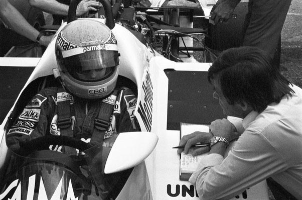 Tests mit dem TAG-Motor in Weissach, 1983; rechtsHans Mezger