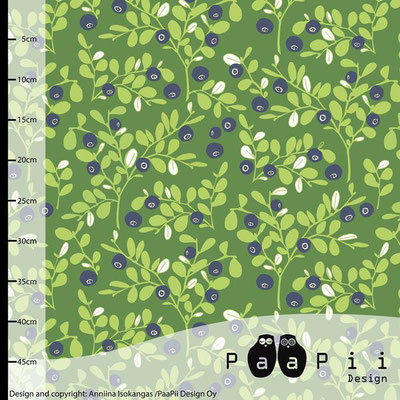 paapii - varpu, grün - bio-jersey