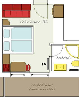 2. Schlafzimmer auf Anfrage, abhängig von Verfügbarkeit