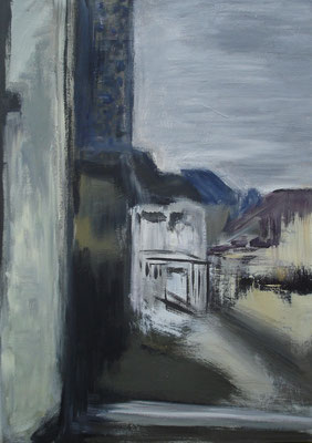 """Am Horizont""   70cm x 50cm, Acryl auf Leinwand, 2014"
