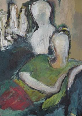 Zwiegespräch III, Acryl auf Pappe, 70x50 cm, 2019