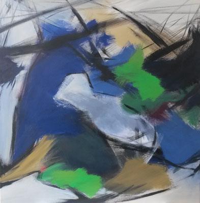 """Verflechtungen"", 80 x 80cm, Acryl auf Leinwand, 2015"