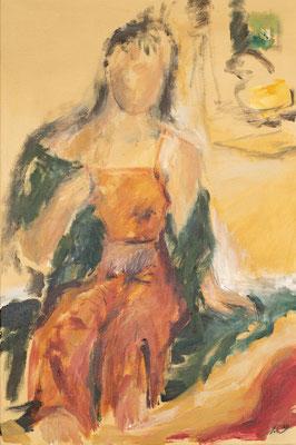 Modell II, Acryl auf Leinwand, 60x40 cm, 2020