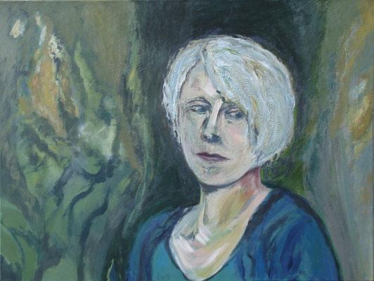 """Erstes Selbstbildnis"" 60cm x 80cm, Acryl auf Leinwand, 2013"