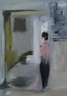 """""""Damals""""    70cm x 50cm, Acryl auf Leinwand, 2013"""