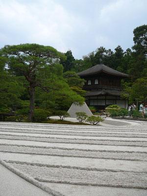 Blick auf den Ginkaku-ji (Silber-Pavillon)