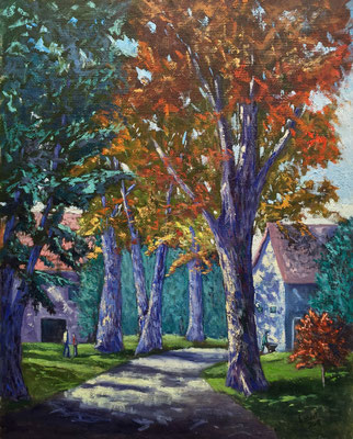 Interpretation Anthony Thieme (1888-1954) Fall Sunlight - Öl auf MDF - 40x50cm -  Im Privatbesitz