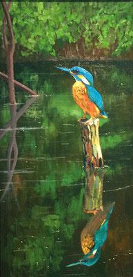 """""""Kingfisher"""" - 30x60cm Öl auf Leinwand"""