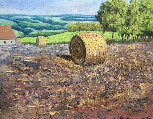 """""""The last Summer Bale"""" - 50x40cm Öl auf MDF- Preis auf Anfrage"""