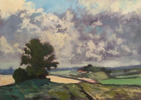 "Interpretation Edward Seago's ""Landscape near Upton"" - 70x50cm - Öl auf leinwand - Preis auf Anfrage"