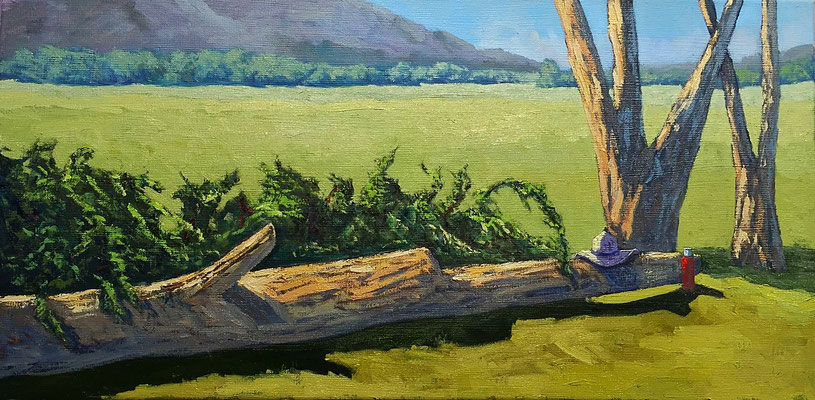 Interpretation Foto Karen Ilari - Öl auf Leinwand - 60x30cm - Preis auf Anfrage