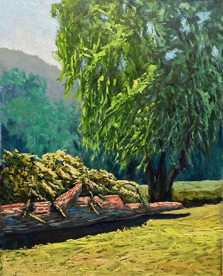 Interpretation Foto Karen Ilari - Öl auf MDF - 40x50cm - Preis auf Anfrage
