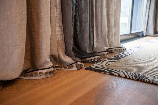 Wohnzimmer-Vorhänge Leinen