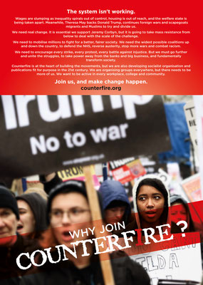 Counterfire: 'Why Join Counterfire 'leaflet, May 2017