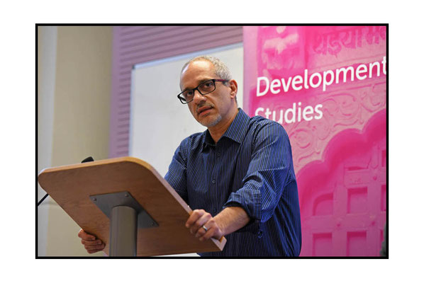 Alfredo Saad Filho speaking at Development in Crisis: States, Conflicts, Refugees. Celebrating 25 Years of Development Studies at SOAS